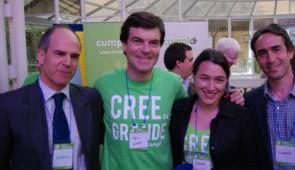Nicolás Shea, creador de Cumplo, ayer en el lanzamiento de Cumplo Empresas en el CMI.